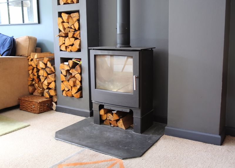 Wood burner in the living room